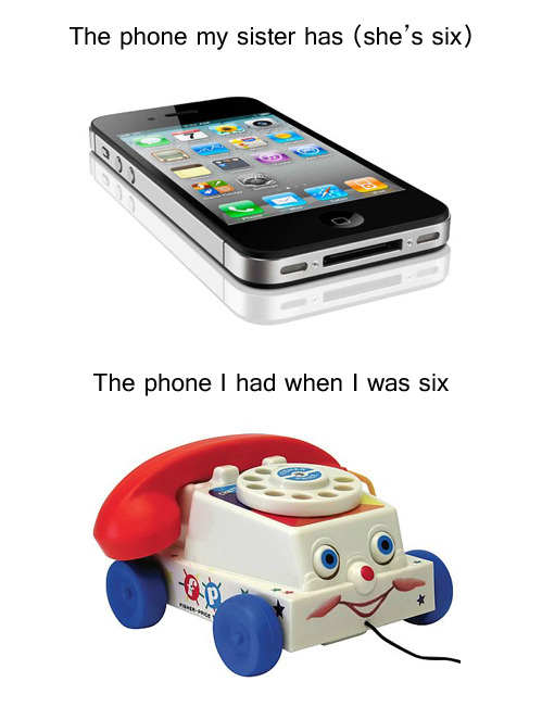 The phone I had when I was six
